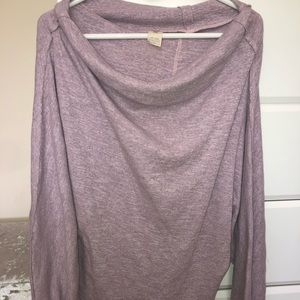 Free People Oversized Sweater in Mauve